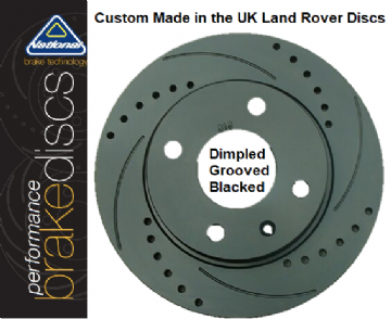 SDB000636 PBD1414DIB Performance Brake Discs (Pair) Dimpled, Grooved & Blacked